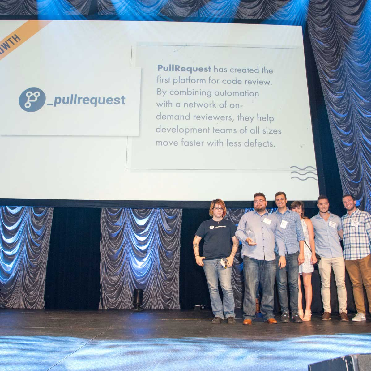 The award was accepted by PullRequest's Austin team in front of thousands of attendees at the ACL Live Moody Theater.