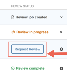 Requesting a manual code review from the PullRequest dashboard