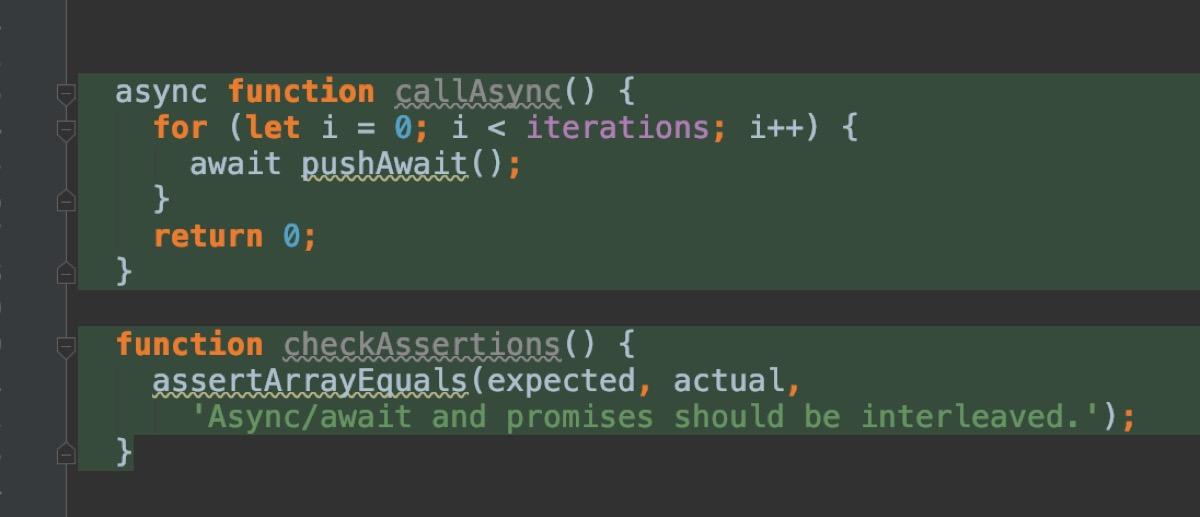 `async/await` was introduced in ECMAScript 2017